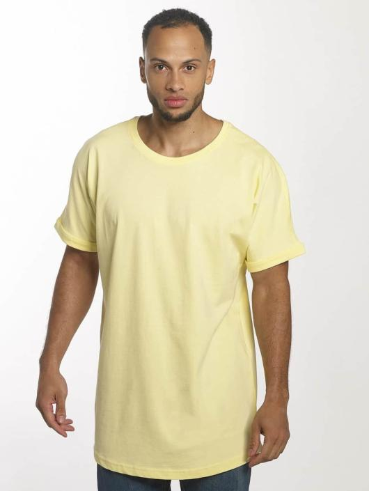 Urban Classics T-shirt long oversize Long Shaped Turnup jaune